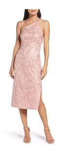 Vera Wang asymmetrical halter sequin dress